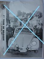 Photox4 7ème TOUR DE BELGIQUE 1955 Royal Automobile Club VOLKSWAGEN Coccinelle VW Course Voiture - Automobile