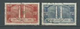 FRANCE: Obl., N° YT 316 Et 317, Vimy, TB - France