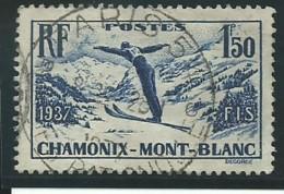 FRANCE: Obl., N° YT 334, Bleu-violet, TB - Francia