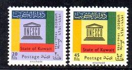 APR1589 - KUWAIT 1966 , Yvert N. 327/328  **  MNH  Unesco - Kuwait