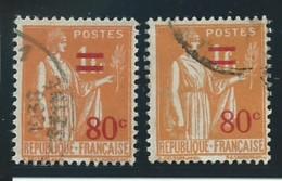 FRANCE: Obl., N° YT 359 + 359a, Orange, T.I Et II, TB - 1932-39 Frieden