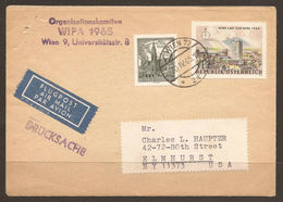 AUSTRIA / USA. 1965. WIPA PRINTED MATTER / DRUCKSACHE AIR MAIL COVER. - 1945-.... 2nd Republic