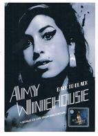 CPM Publicitaire : Chanteuse Amy Winehouse - Back To Black - Musique Et Musiciens