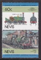 2 TIMBRES NEUFS DE NEVIS - LOCOMOTIVE COMET 4-4-0T, 1851, ROYAUME UNI N° Y&T 281/282 - Trains