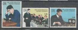 Cuba 2018 130th Anniversary Of Jose Raul Capablanca's Birthdate. Gran Master Chess 3v MNH - Ajedrez