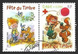 FRANCE  2002 -  Y&T  3467a  La Paire Se Tenant   - Boulle Et Bill - Oblitérés - Francia