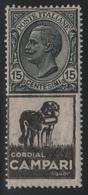 1924-25 Francobolli Regno Pubblicitari 15 C. Campari MNH - 1900-44 Vittorio Emanuele III