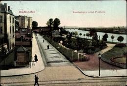 Cp Thionville Diedenhofen Lothringen Moselle, Moselanlagen Nebst Flohturm - Frankreich