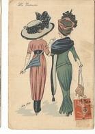 CPA, Th. Illustr. N° 4231, Les Entravées, Signé  Xavier Sager , Ed. K.F. Paris ,1910 - Sager, Xavier