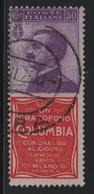 1924-25 Francobolli Regno Pubblicitari 50 C. Columbia - 1900-44 Vittorio Emanuele III