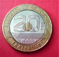 FRANCE 20 FRANCS MONT ST MICHEL  1993  N°206 D - L. 20 Francs