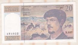 20 Francs Debussy 1992. Alphabet N.037 N° 494022. Billet Neuf - 1962-1997 ''Francs''