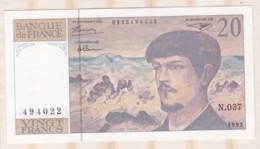 20 Francs Debussy 1992. Alphabet N.037 N° 494022. Billet Neuf - 20 F 1980-1997 ''Debussy''