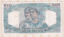 1000 Francs Minerve Et Hercule 21 – 2 – 1946. Alphabet J.202 N° 4080 - 1871-1952 Antichi Franchi Circolanti Nel XX Secolo