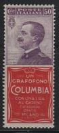 1924-25 Francobolli Regno Pubblicitari 50 C. Columbia MNH - 1900-44 Vittorio Emanuele III