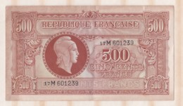500 Francs Marianne 1945. Alphabet 17M 601239 - 1943-1945 Marianne