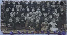Photo GODARVILLE Trazegnies Classe De Fille Ecole Primaire Repas Scolaire Pre 1914 Hainaut - Lieux