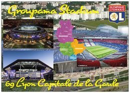 Stade De Football - Stade Groupama Stadium - LYON - Carte Géo Du Rhône - Capitale De La Gaule - Cpm - Vierge - - Soccer
