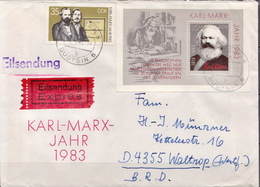 Postal History: Germany / DDR Cover With SS - Karl Marx