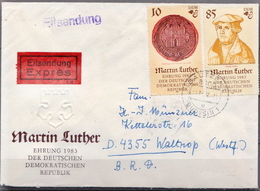 Postal History: Germany / DDR Cover With Luther Stamps - Christianity