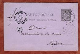 P 8 Allegorie, Lauzes Nach Malines 1884 (75669) - Biglietto Postale