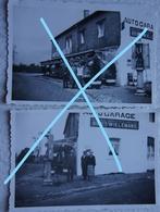 Photox2 LA CUISINE Chiny Florenville 1935 Hôtel Jacoby Auto Garage Pompe à Essence Petrol Luxembourg Gaume - Lieux