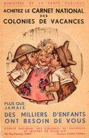 Par Bouret.  Carte Promotion Achat Carnet Des Colonies De Vacances. - Bouret, Germaine
