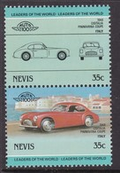 2 TIMBRES NEUFS DE NEVIS - AUTOMOBILE CISITALIA PININFARINA COUPE, 1948, ITALIE N° Y&T 329/330 - Cars