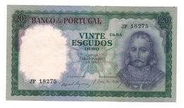Portugal. 20 Esc. 1960. P-163a. XF/AUNC - Portugal