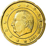 Belgique, 20 Euro Cent, 2007, SUP, Laiton, KM:243 - Belgique