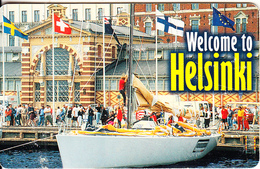 FINLAND(chip) - Welcome To Helsinki, HPY Telecard, CN : 000159, Tirage 10000, 05/98, Used - Finland