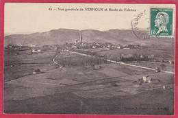 CPA 07 VERNOUX  Vue Générale Et Route De Valence - Vernoux