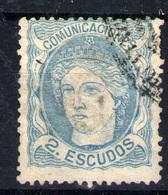 España  Nº 112T. Año 1870 - Usados