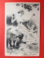 1904 - Illustrateur EDMUND PRUMING - PADDESTOEL - SLINGER MET HARTEN - CUPIDO - COEURS - CHAMPIGNON - Illustrateurs & Photographes