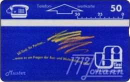"""TWK Österreich Privat: """"BFI Tirol - 50E"""" Gebr. - Autriche"""
