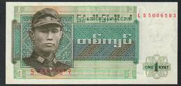 Burma 1 Kyat 1972 UNC - Myanmar