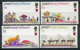 Jersey, 1970, Battle Of Flowers, Ostriches 4 Stamps  20 Euro - Straussen- Und Laufvögel