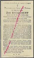 En 1940 Eecke-Zoé BACQUAERT ép Nestor CAILLIAU Née En 1876 à Bailleul-Ligue Féminine D'action Catholique - Décès