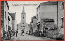 CPA 63 AUVERGNE N° 221 - Environs D' Aigueperse : St SAINT-AGOULIN - Quartier De L' Eglise - France