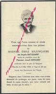En 1959 Merville-Angèle BACQUAERT ép MAZINGARDE Et CRINCKET - Décès