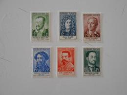 FRANCE YT 1166/1171 CELEBRITES 1958** - Francia