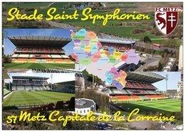 Stade De Football - Stade Saint Symphorien - METZ - Carte Géo De La Moselle -  Capitale De La Lorraine - Cpm - Vierge - - Soccer