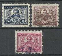 POLEN Poland 1923 Michel 182 - 184 Nikolaus Kopernikus Copernik O - 1919-1939 Republic