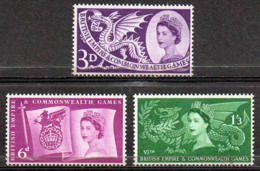 GREAT BRITAIN 1958 Sixth British Empire And Commonwealth Games - 1952-.... (Elizabeth II)