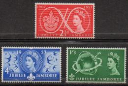 GREAT BRITAIN 1957 World Scout Jubilee Jamboree - 1952-.... (Elizabeth II)