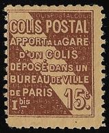 FRANCIA -1926 - PACCHI POSTALI - Valore Nuovo Senza Gomma Da 15 C. - In Buone Condizioni. - Neufs