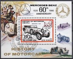 NORDKOREA 1986 - MiNr: 2718 Bl. 211 Mercedes S 1927 - Autos