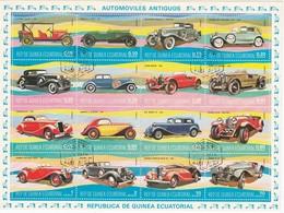 ÄQUATGUINEA 1974 - MiNr: Oldtimer Kleinbogen - Autos
