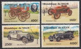 NIGER 1984 - MiNr: 892-895 Komplett  Used - Autos