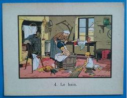 Le Bain, Image Ancienne Pédagogique Pour Enfants - Altri
